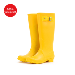 Wholesale hot sexy ladies western cowboy China factory direct sale PVC women rain boots