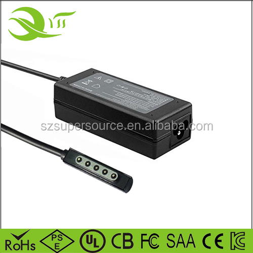 Microsoft Surface Pro 2 12v 3.58a laptop charger, ac / dc laptop adapter, switching power supply