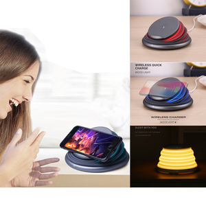 Universal 10W Qi Lamp 3 In 1 Led Wireless Charger Light Stand Holder For Wireless Iphone Mobile Phone Charger