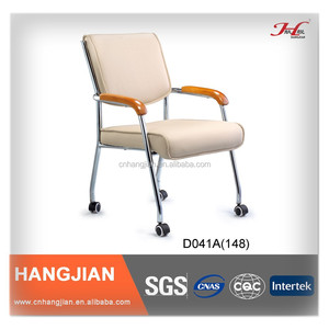Hangjian D041A OEM accepted PU leather roller four foot office chairs
