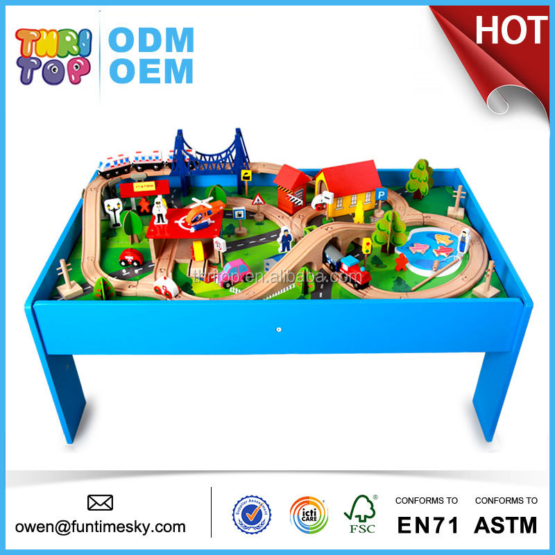 2017 wooden train set toys for kids TH0002