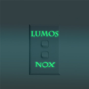 lumos nox shiny switch wall stickers glow in the dark children's room living room waterproof removable computer wall decals
