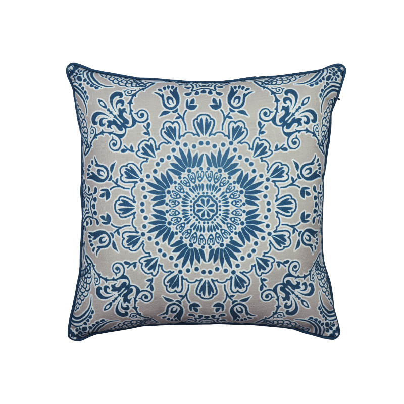 Wholesale Latest design Bohemian custom printed cushion cover  with zipper