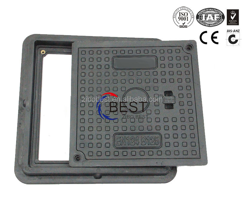 composite drainage cover pool frp grp manhole cover and frame