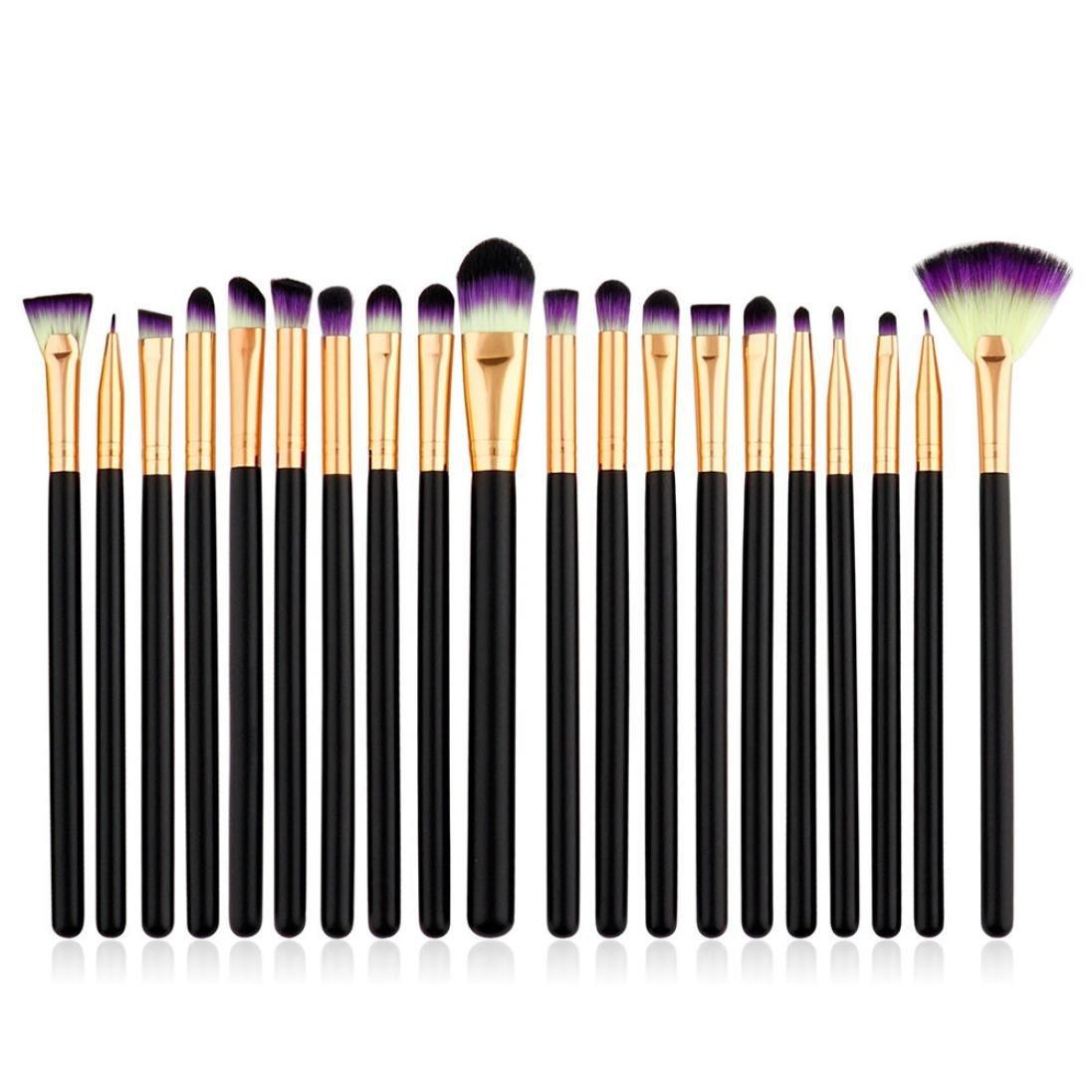 Beauty Brush Set,BCDshop 20pcs Pro Makeup Brushes Set Foundation Powder Eyeshadow Eyeliner Lip Cosmetic Brush Tool Kit (B)