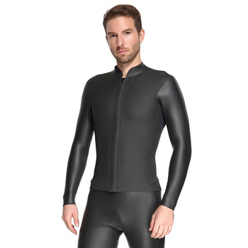 Wetsuit Top Men Diving Suit Long Sleeve Swimming Wear Spearfishing Suit for Surfing
