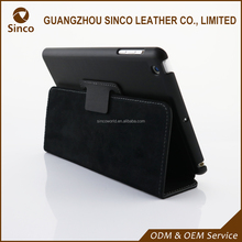 Business style genuine leather flip cover for Ipad mini flip case for ipad