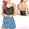 Big Stock Black Backless Harness Sexy Ladies Lace Crop Top