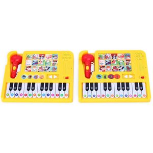 OEM customized recording microphone piano keyboard toy for kids music instrument with high quality
