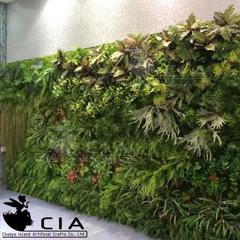 artificial plants outdoor green wall,foliage wall decoration,fern