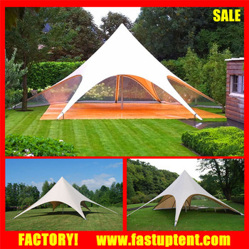 650gsm Pvc Fabric High Peak Stretch Star Shade Party Tent