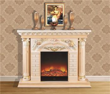 Palace Luxury Hand Painted Fireplace Mantel, Decorative French ...