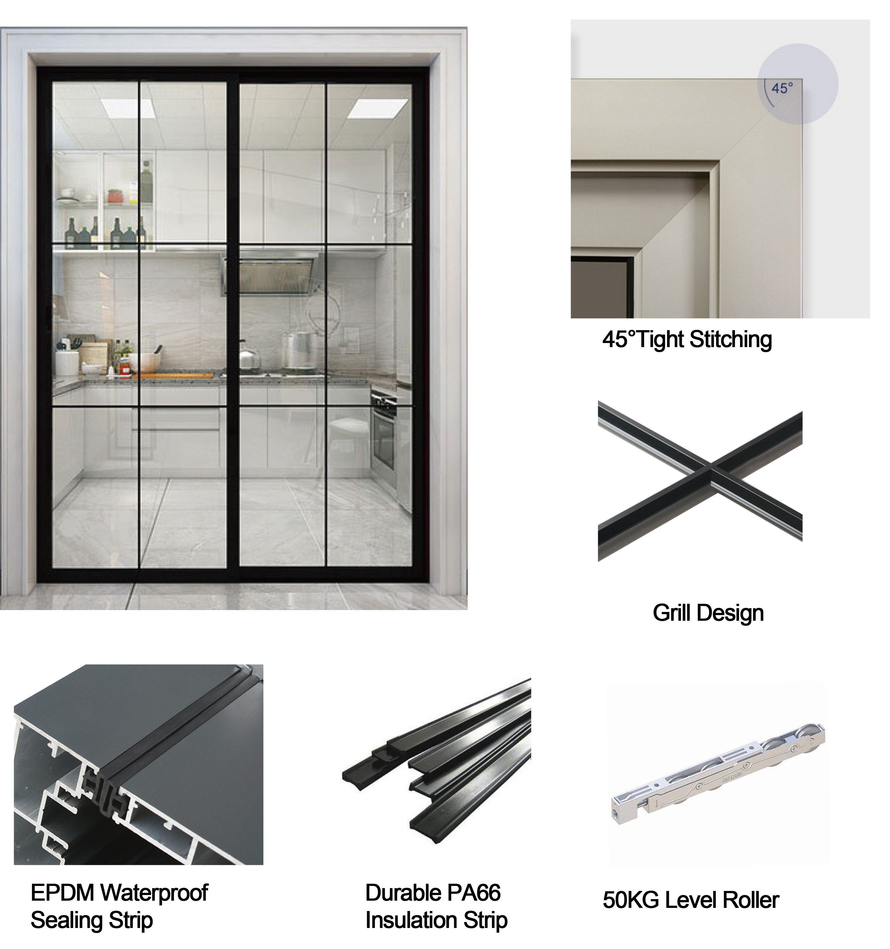 Top Window Australia Commercial System Aluminum Frame Slider Door With Stainless Steel Security Grill Cheap Sliding Door