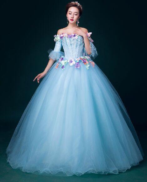 100% Echt hellblau Kristall Strass Perlen Blume ...