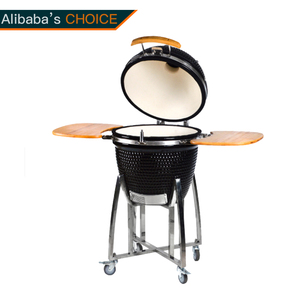 Hot Sales Outdoor Garden Egg Shaped Black 21 Inch Charcoal Ceramic Bbq Kamado Grill