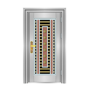 Latest Design House Main Grill Stainless Steel Entrance Single Front Door Designs