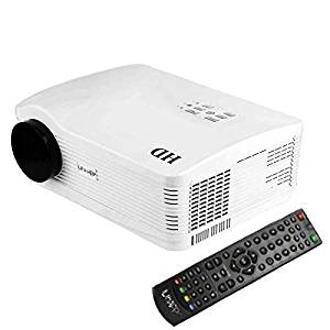 Generic Uhappy U3 HD 1080P 3000LM Home Theater 1280800 Projector for Video Games TV Movie, Support USB + 3D + HDMI + YPbPr + TV + AV + S-Video + VGA(White)