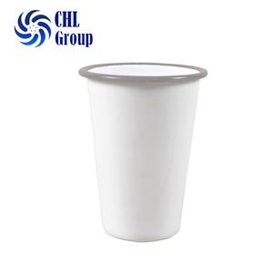 Eco free sample enamel metal mug no handle cast iron tumbler