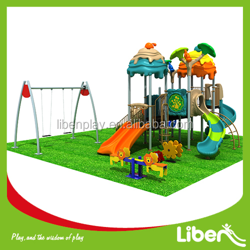 Toddler Play Structure With Swing And Seesaws