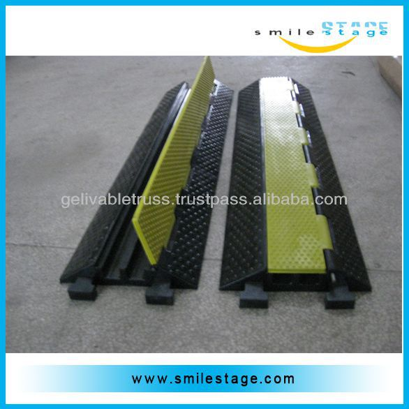 Cable rubber car loading Ramp rubber hose ramp