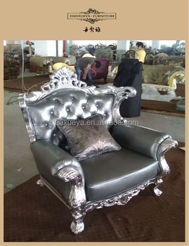 Danxueya Silver Leather Sofa/house Furniture Sofa/french Sofa Set 831#
