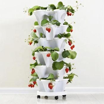 Strawberry Hidroponik Vertikal Pertanian Pot Pot Bunga Garden Buy Hidroponik Planter Pot Vertikal Pot Bunga Strawberry Pot Product On Alibaba Com