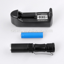 Aluminum Torch Body 395nm Black Light Flashlight Violet UV