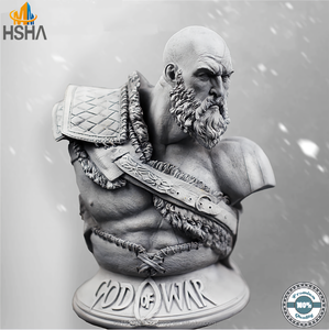 Custom PS4 Game 1/3 God of War 4 Kratos Resin Figure