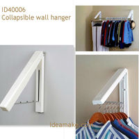 Collapsible wall hanger, Laundry Room Organizer/Wall Mounted Collapsible Hanger