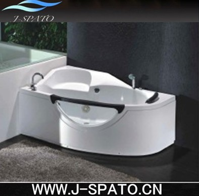 Europe Design Acrylic Massage Spa 1 Person Hot Tub With Seat Handrest and Window Made in China