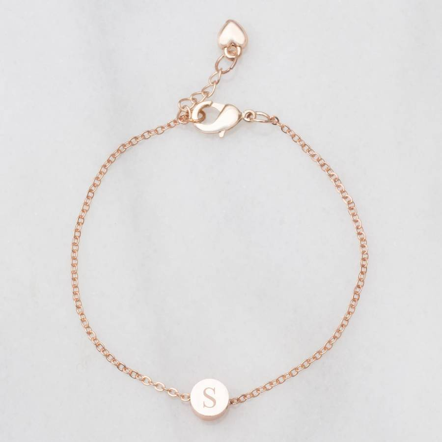 Simple Alphabets Design Gold Jewelry Custom Bracelet For Girls ...