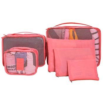 6 Set Packing Cubes with Shoe Bag - Compression Travel Luggage Organizer  storage bag