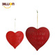Home Decoration Hanging Heart Shaped Metal Wall Decor