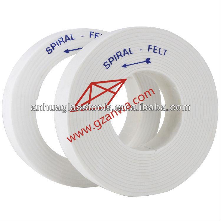 Glass Bevel Polish Wheel Spiral Felt Disc Wool Felt Polish Wheel Thickness 35mm