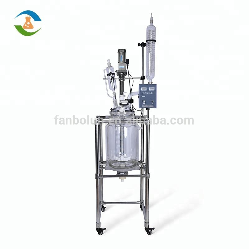 Chemical Laboratory 30L Jacketed Vacuum Pharmaceutical Glass Reactor