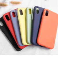 for iPhone Apple Silicone Case With Customized Logo Liquid Silicone Cover Fiber Inside Silicon Back Cover for iPhone 11 XS MAX