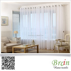100% polyester grande largeur blanc voile tissu ready made de rideau