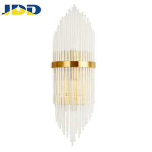 Modern Glass rod Wall Lamp Led Energy-Saving Design Decorative Hotel Indoor Gold Chandelier Lamp Wall