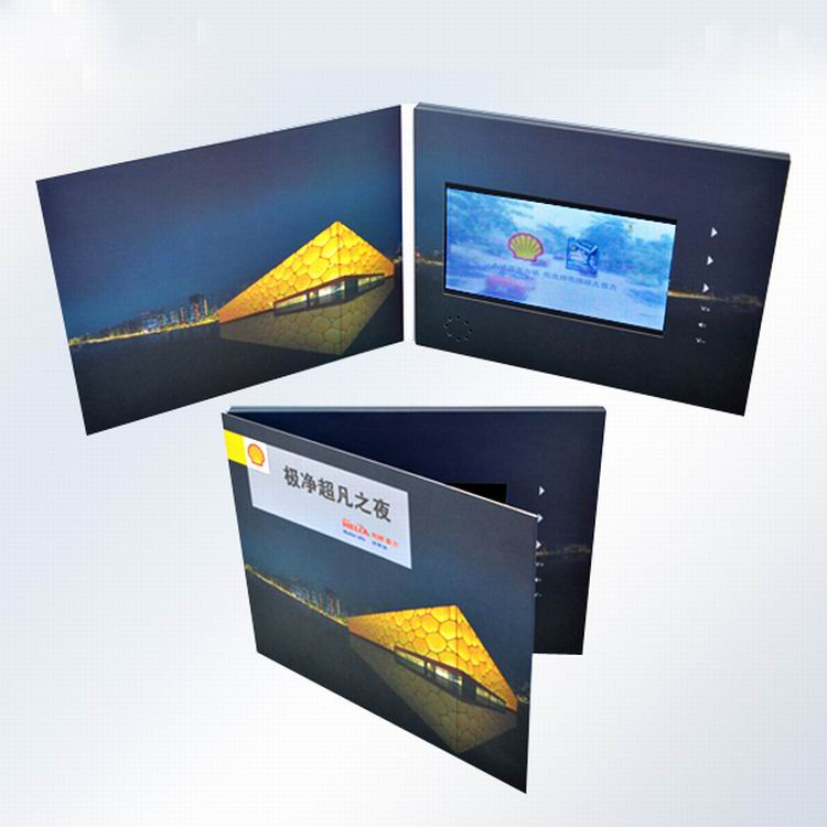 "Oversized Tft Cards Lcd 7"" 8Gb 2..4'' Video Greeting Card"