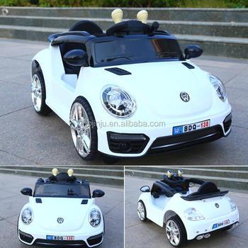 White Volkswagen Beetle Children Electric Kids Cars 24v Ride On Car