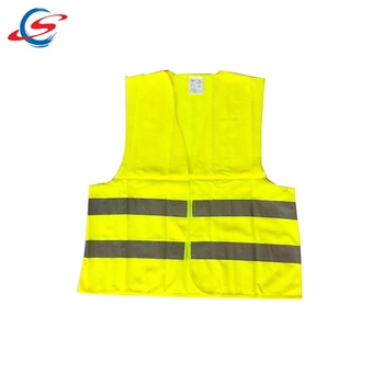 stock 120g high visibility yellow safety warning reflective vest