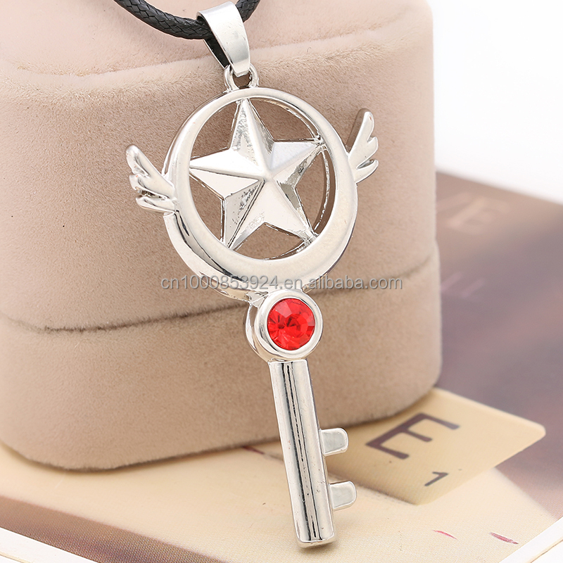 Costume Props Friendly Anime Cardcaptor Sakura Cosplay Accessories Magic Circle Star Key Chain Punctual Timing