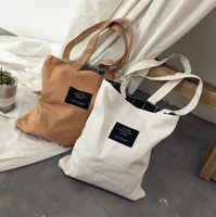 casual beach bag washable cotton canvas bag with printing