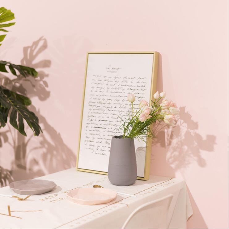 Ceramic crafts decoration, creative ceramic drawing vase, Nordic household decoration