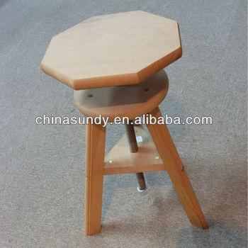 Artist Adjustable Wooden Stool