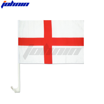 Custom logo printed all country world England national car window flag
