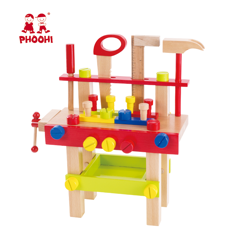Children Pretend Play Educational Tool Set Toy Wooden Kids Workbench For Toddler 3 Buy Kids Workbenchchildren Workbenchwooden Kids Workbench