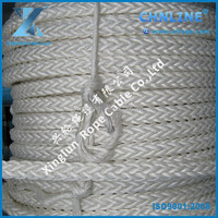 88 mm 12 strand polyamide PA / Nylon rope oil platform single point mooring SPM Rope