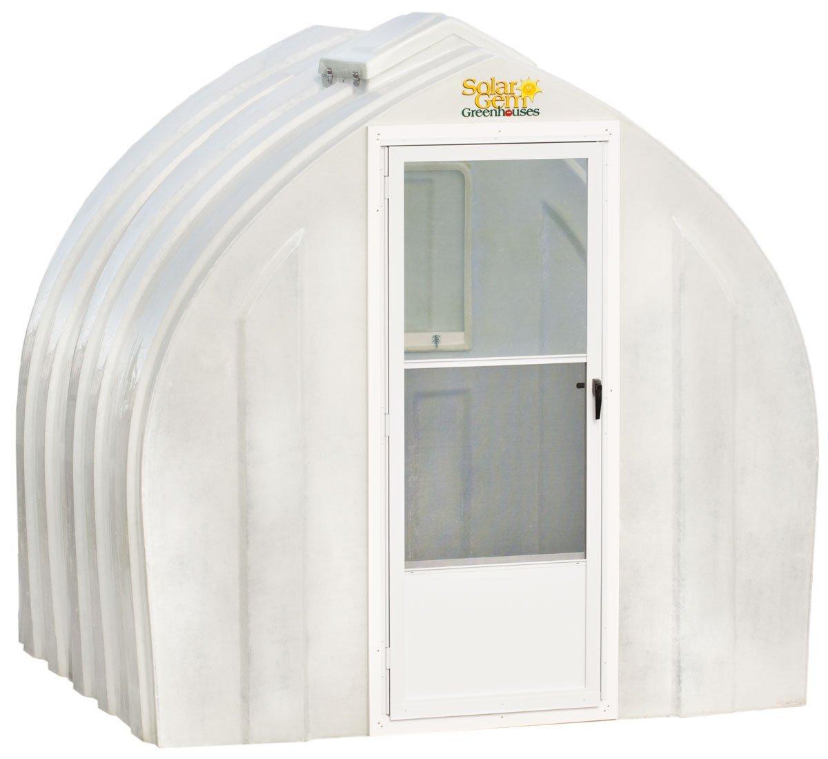 Solar Gem 8' x 7.5' Small, Fully Assembled, Heavy Duty, Walk-In Fiberglass Greenhouse