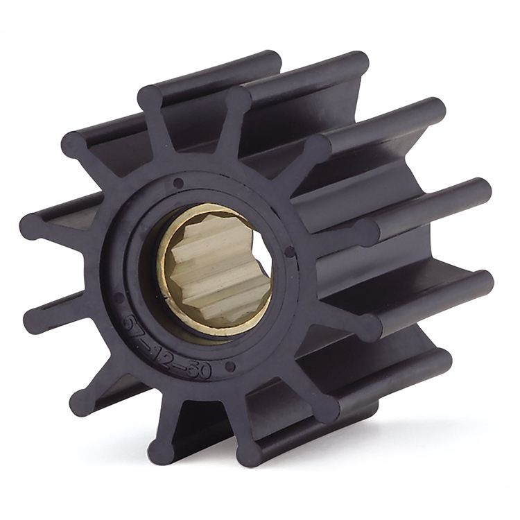 Custom size flexible nitrile rubber slurry pump impeller for Jabsco 22120-0001 Volvo 876120 834794